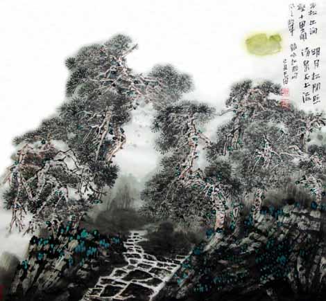 微信头像山水画真实动态风景
